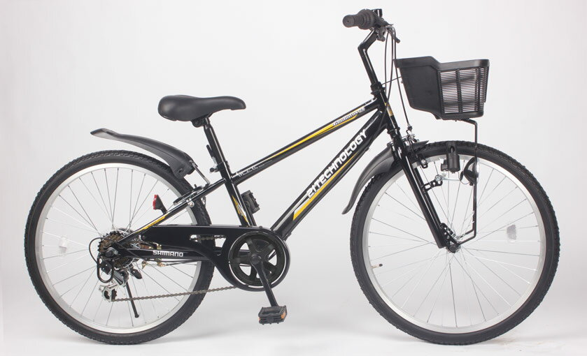 21TechnologyKD24624インチ子供用マウンテンバイクブラック自転車本体21テクノロジー