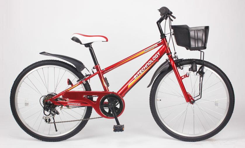 送料無料21Technology21テクノロジーKD24624インチ子供用マウンテンバイクレッド自転
