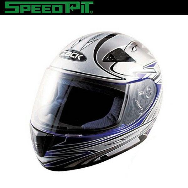 TNK工業SPEEDPITキッズフルフェイスヘルメットZK-1ブルー/シルバー子供用SG規格適合バイ