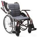 軽量 折りたたみ車椅子(車いす) カワムラサイクル製 WAVIT+(ウェイビットプラス自走式) W