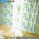 ドレープカーテン FLORA-フローラ(オーダーサイズ 幅300cm×丈260cm以内)ウォッシャブル 遮光2級 形状記憶加工 ポイント10倍