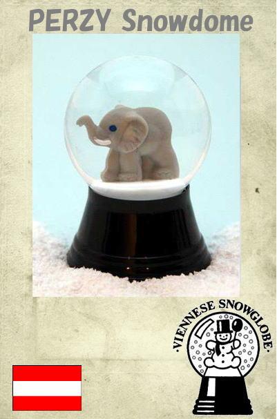 【PERZY スノードーム45mm 象】 【宅配 】オーストリア パージー ウィーン 雪 インテリア 雑貨 おしゃれ|かわいい|置物 オブジェ プレゼント クリスマス スノーグローブ 象 動物 アニマル 手作り【楽ギフ_包装】