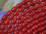 天然石珠珊瑚(珊瑚)水稻类型○五毫米×○七毫米5[天然石 ビーズ 珊瑚(さんご)ライス型5×7ミリミリ・5個]