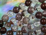 天然石 ビーズ レッドガーデンクオーツ丸玉8ミリ・5個