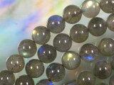 天然石 ビーズ ラブラドライト丸玉 8mm(No.2)・5個
