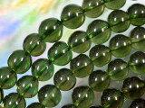 一轮8mm的珠子宝石珠Morudabaito[天然石 ビーズ モルダバイト丸玉8mm・1個]