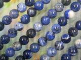 天然石 ビーズ ソーダライト丸玉8ミリ・1連40cm50個前後
