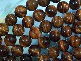 天然石 ビーズ レッドタイガーアイ丸玉8ミリ・10個