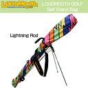 """[クーポン有][日本規格]Loudmouth """"Lightning Rod""""Self Stand Bag(ラウドマウス ライトニングロッド セルフスタンドキャリ..."""