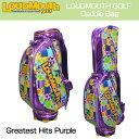 """[クーポン有][日本規格・最上位モデル]Loudmouth/ラウドマウス 2016 Greatest Hits Vol 1 Purple 9.5型キャディバッグ LM-CB0001/LTD 042P """"LMグレーテストヒッツVol 1"""" [新品][TW20]"""
