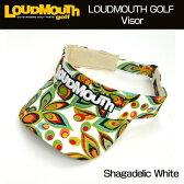 【日本規格】2016 Loudmouth(ラウドマウス) バイザー (003)Shagadelic White シャガデリックホワイト 726107【新品】ゴルフウェア帽子メンズ/レディース/子供用子ども用こども用