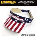 [クーポン有][日本規格]2016 Loudmouth(ラウドマウス) バイザー (039)Stars & Stripes スターズ&ストライプス 726107...