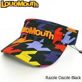 【日本規格】Loudmouth(ラウドマウス) 2016 バイザー (009)Razzle Dazzle Black ラズルダズル ブラック 726602 【新品】16FWゴルフウェア帽子メンズ/レディース/子供用子ども用こども用