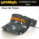 【日本規格】Loudmouth(ラウドマウス) 2016 バイザー (015)Shiver Me Timbers シヴァーミーティンバーズ 726602【新品】16FWゴルフウェア帽子メンズ/レディース/子供用子ども用こども用