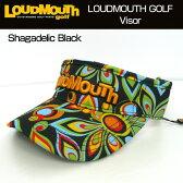 【日本規格】Loudmouth(ラウドマウス) 2016 バイザー (020)Shagadelic Black シャガデリックブラック 726602【新品】16FWゴルフウェア帽子メンズ/レディース/子供用子ども用こども用