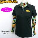 [クーポン有][日本規格][レディース]Loudmouth(ラウドマウス) 2016 半袖ポロシャツ (998)Black ブラック 長袖ハイネックインナーシャツ(Shagadelic Black/シャガデリックブラック) セット 726702[新品]16FWウィメンズレディス女性ゴルフウェアトップス[TW10]