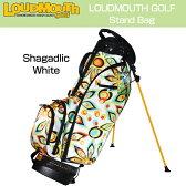 """Loudmouth """"Shagadelic White""""Stand Bag(キャディバッグ ラウドマウス """"シャガデリック ホワイト"""" スタンドバッグ【新品】キャディバッグ/メンズ/レディース/子供用子ども用こども用"""