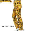 [クーポン有][日本規格]2017 Loudmouth(ラウドマウス) メンズロングパンツ (021)Shagadelic Yellow シャガデリックイエロー 767301[新品]17SSゴルフウェアボトムス