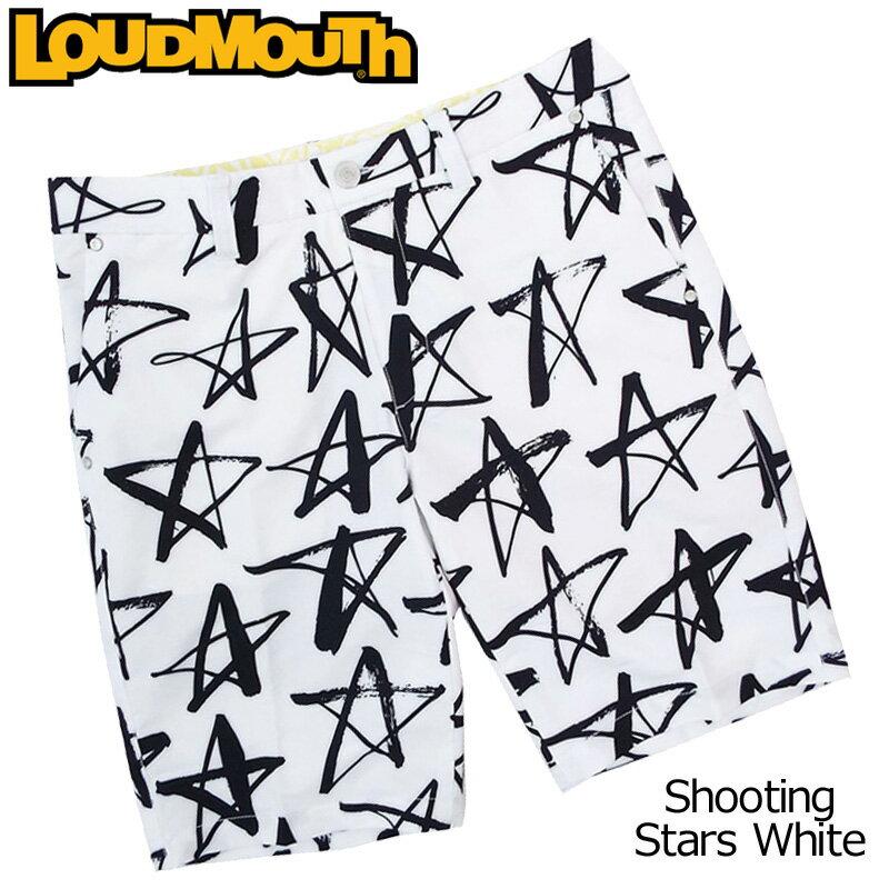 [20%off][日本規格]ラウドマウス 2018 メンズ ショートパンツ (シューティングスターホワイト Shooting Stars White) 768306(118) 春夏[新品]18SS Loudmouthゴルフウェアボトムスハーフパンツ男性用紳士用 派手 派手な 柄 目立つ 個性的