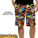 ラウドマウス メンズ ショートパンツ スリムカット (Scribblz REDUX-TILE スクリブルズ リダックスタイル) 777330(069)[新品] 17FW Loudmouth Short Pants Slim Cut ゴルフウェア ボトムス