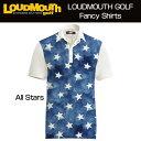 """[Sale]Loudmouth Fancy Shirt """"All Stars"""" ラウドマウス 半袖 ファンシーシャツ """"オールスター""""[新品]Loudmouthメンズ ポロシャツ ゴルフウェアトップス"""