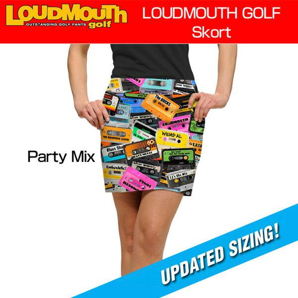 """[クーポン有][Sale][レディース]Loudmouth Skort """"Party Mix""""(ラウドマウス スコート """"パーティーミックス"""")[新品]Loudmouthレディス女性ゴルフウェアスカートボトムス 【即納】【ラウドマウス専門店 日本一の品揃え】【やんちゃで遊び心がありながら、上品で派手!】"""