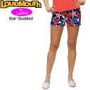 [クーポン有][Newest][レディース]ラウドマウス ホットパンツ/ミニパンツ (Star Studded スタースタッズ)[新品]17SS LoudmouthゴルフウェアボトムスMini Shorts