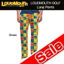 """[Sale]Loudmouth Pants Euro Cut """"Grass"""" (ラウドマウス メンズ ロングパンツ ユーロカット """"グラス"""") [新品]ゴルフウェアボトムス"""