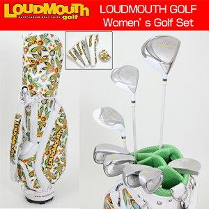 """�ڥ�ǥ�������Loudmouth""""ShagadelicWhite""""GolfHalfSet(�饦�ɥޥ���""""���㥬�ǥ�å��ۥ磻��""""����ե��å�/9�����åȥ���ǥ��Хå���)LM-410�ڿ��ʡ�"""