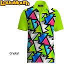 """ショッピング日本一 【メール便発送】Loudmouth Fancy Shirt """"Broken Grass(Crystal)"""" ラウドマウス 半袖 ファンシーシャツ """"ブロークングラス(クリスタル)"""" 【新品】 Loudmouth メンズ ポロシャツ ゴルフウェア トップス"""