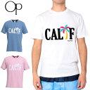 【メール便発送】OP オーシャンパシフィック メンズ 半袖Tシャツ CALIFロゴ 518513 【新品】17SS OCEAN PACIFIC ウェア マリン スポーツウェア 半そでシャツ フィットネス ビーチ %off