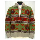 HELLER'S CAFE(ヘラーズカフェ)by WAREHOUSE [1940's Native Pattern Cowichan Sweater] ショールカラーセーター/カウチンセーター!