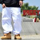 大きいサイズ メンズ DOP(ディーオーピー)B系 パンツ バギーパンツ ロングパンツ 極太 白パン ホワイト カラーパンツ 大きいサイズ/B系ファッション