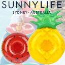 ショッピング浮き輪 SUNNY LIFE(サニーライフ) うきわ フルーツ ドリンクホルダー