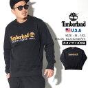 Timberland ティンバーランド トレーナー メンズ 大きいサイズ クルーネック スウェット ロゴ コットン USAモデル TB0A1Y3B ストリートファッション アウトドア