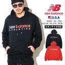 NEW BALANCE ニューバランス パーカー プルオーバー メンズ スウェット フーディ ストリート ファッション カジュアル エッセンシャルズアイコンスウェットプルオーバーフーディ MT01524