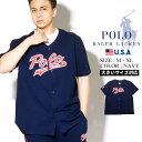 【メール便対応】ポロ ラルフローレン Polo Ralph Lauren ベースボールシャツ 半袖 シャツ メンズ ファッション 春 夏 半袖シャツ スポーティ ストリート SHORT SLEEVE BASEBALL PJ TOP PK61SR
