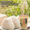 特別栽培米大潟村あきたこまち 発芽玄米鉄分 1kg (2袋セット)