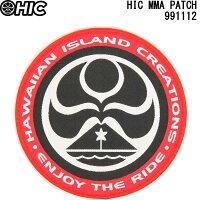 HIC エイチアイシー ワッペン HIC MMA PATCH RED HAWAIIAN ISLAND CREATIONS ENJOY THE RIDE【ハワイアン雑貨 サーフブランド ハワイ・カイルア Hawaii HIC hic サーフショップ 小物 かわいい 新品】の画像