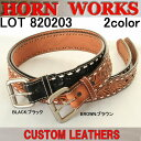 【送料無料】HORN WORKS 【ホーンワークス】ベルト BELT LOT 820203 【ベルト 男性用】
