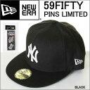 NEW ERA PINS NY 11322627 ニューエラ 59FIFTY CAP ニューヨーク ヤンキース キャップ ピンバッチ付き NEWERA【ニューエラ キャップ NE..