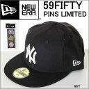 NEW ERA PINS NY 11322626 ニューエラ 59FIFTY CAP ニューヨーク ヤンキース キャップ ピンバッチ付き NEWERA【ニューエラ キャップ NV..