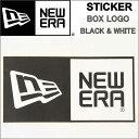 NEW ERA Die-cut Box Logo ニューエラ ダイカット ボックスロゴ ステッカー ブラック ホワイト 黒 白 ニュー エラステッカー【NEWERA ..