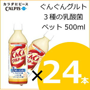 ぐんぐんグルト 3種の乳酸菌 500ml×24本 ka