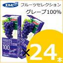エルビー 果汁100% フルーツセレクション グレープ100% 200ml×24本