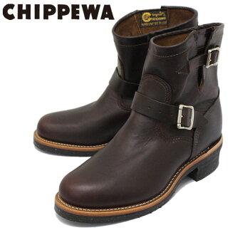 日本國裏面的郵費、貨到付款手續費免費正規的經銷商CHIPPEWA(chipewa)1901M52 7inch ORIGINAL ENGINEER BOOTS 7英寸平面二技術員長筒靴CORDOVAN保證字條