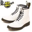 ショッピングブーツ 正規取扱店 Dr.Martens (ドクターマーチン) 11822100 1460 8EYE スムースレザー ブーツ WHITE