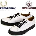 正規取扱店 FRED PERRY (フレッドペリー)XGEORGE COX (ジョージコックス) B8279-100 CREERER LEATHER レザースニーカー 100-WHITE FP286