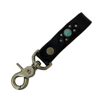 일본 국내 무료 우송 ・ 대금 상환 수수료 무료 정품 취급 HTC (Hollywood Trading Company) #B 3/4 Key Holder (#B 3/4 키체인) 블랙 가죽 x 청록색