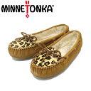 ショッピングキャリー スーパーセール super sale正規取扱店 MINNETONKA(ミネトンカ) Leopard Cally Slipper(レオパードキャリースリッパ) #40161 CINNAMON レディース MT268